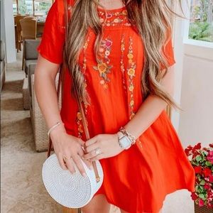 """Mint Julep boutique """"On the Border Dress"""" Red"""